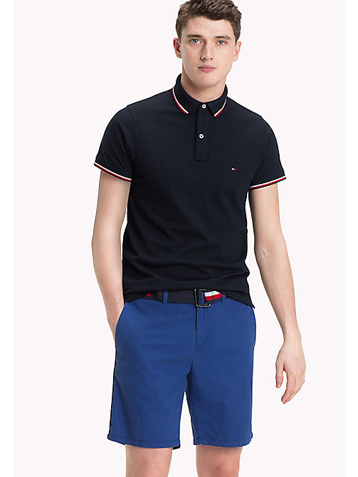 Tipped Slim Fit Polo - SKY CAPTAIN -  Clothing - main image
