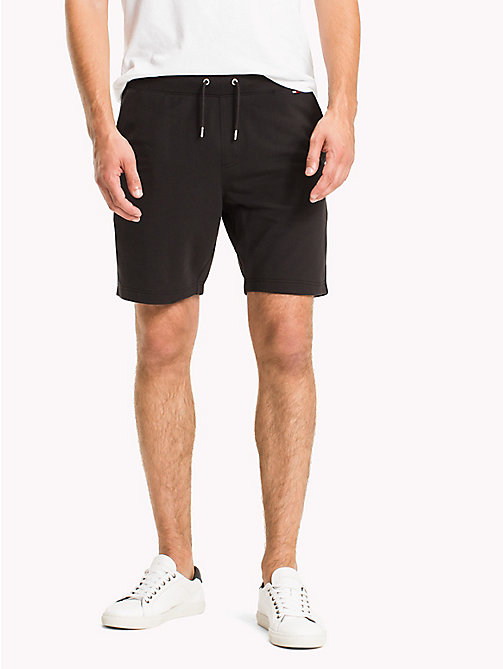 TOMMY HILFIGER Lightweight Regular Fit Sweatshorts - JET BLACK - TOMMY HILFIGER Shorts - main image