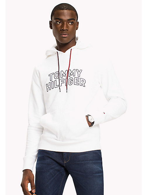 TOMMY HILFIGER Logo Hoodie - BRIGHT WHITE - TOMMY HILFIGER Clothing - main image
