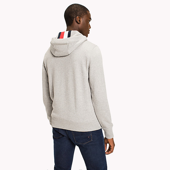 TOMMY HILFIGER Logo Hoodie - BRIGHT WHITE - TOMMY HILFIGER Men - detail image 1