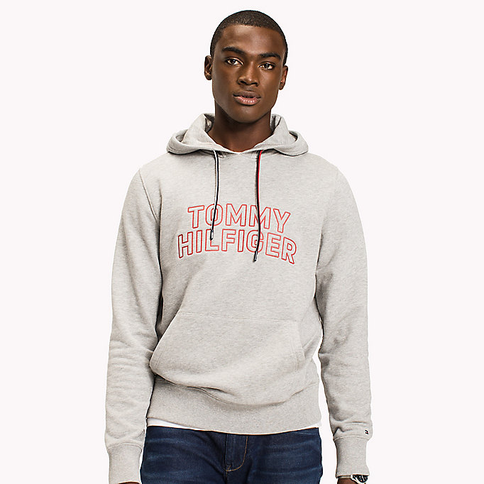 TOMMY HILFIGER Logo Hoodie - BRIGHT WHITE - TOMMY HILFIGER Men - detail image 2