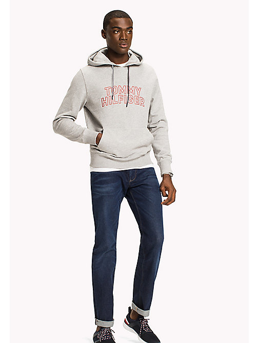 TOMMY HILFIGER Logo Hoodie - CLOUD HTR - TOMMY HILFIGER Clothing - main image