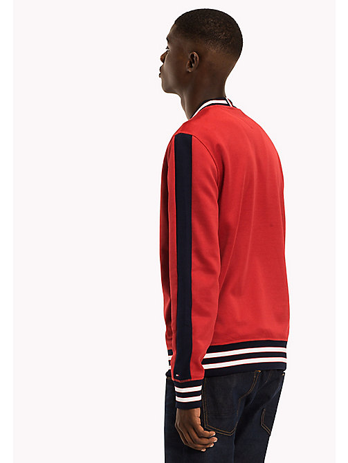 TOMMY HILFIGER Tipped Crew Neck Sweatshirt - HAUTE RED - TOMMY HILFIGER Clothing - detail image 1