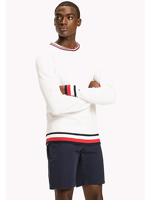 TOMMY HILFIGER Chunky Knit Jumper - SNOW WHITE - TOMMY HILFIGER Clothing - main image
