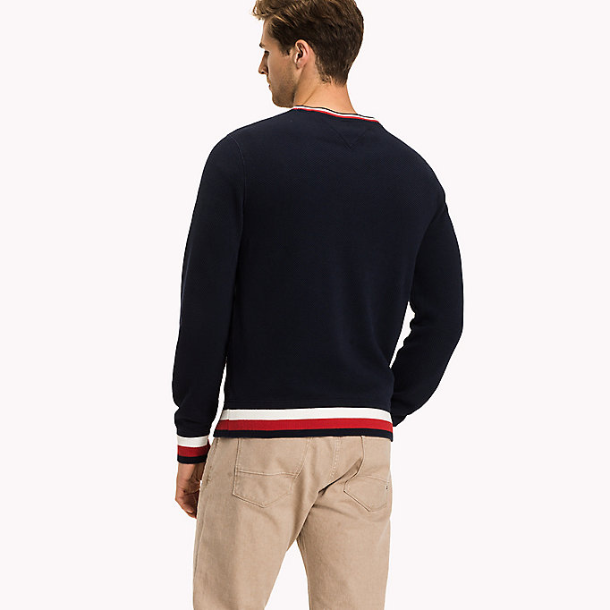 TOMMY HILFIGER Chunky Knit Jumper - SNOW WHITE - TOMMY HILFIGER Men - detail image 1