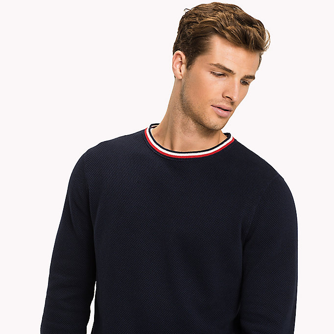 TOMMY HILFIGER Chunky Knit Jumper - SNOW WHITE - TOMMY HILFIGER Men - detail image 2