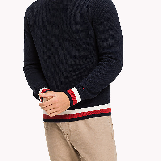 TOMMY HILFIGER Chunky Knit Jumper - SNOW WHITE - TOMMY HILFIGER Men - detail image 3