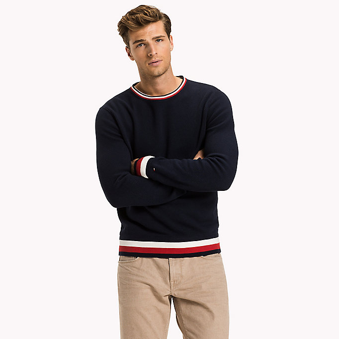 TOMMY HILFIGER Chunky Knit Jumper - SNOW WHITE - TOMMY HILFIGER Men - main image