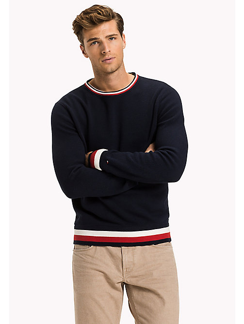 TOMMY HILFIGER Chunky Knit Jumper - NAVY BLAZER - TOMMY HILFIGER Clothing - main image
