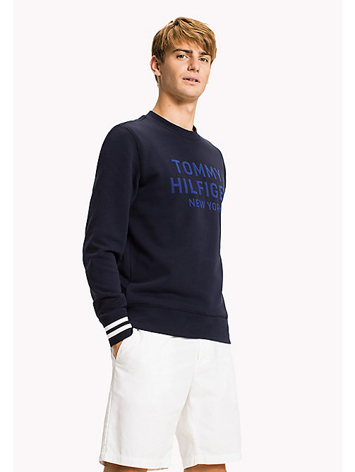 TOMMY HILFIGER Graphic Jumper - NAVY BLAZER - TOMMY HILFIGER Clothing - main image