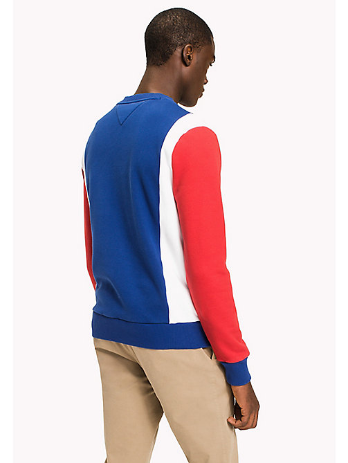TOMMY HILFIGER Colour-Blocked Sweatshirt - HAUTE RED / MULTI - TOMMY HILFIGER Sweatshirts & Knitwear - detail image 1