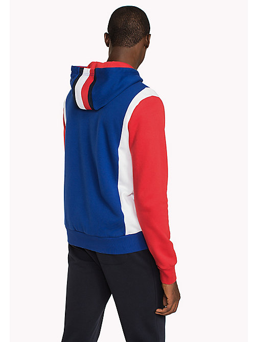 TOMMY HILFIGER Stripe Zip-Thru Hoodie - BRIGHT WHITE / MULTI - TOMMY HILFIGER Clothing - detail image 1