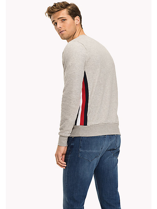 TOMMY HILFIGER Stripe Sweatshirt - CLOUD HTR - TOMMY HILFIGER Clothing - detail image 1