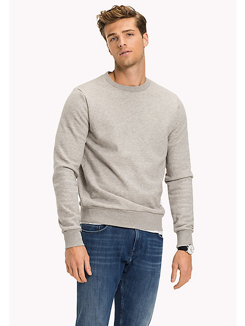 TOMMY HILFIGER Stripe Sweatshirt - CLOUD HTR - TOMMY HILFIGER Sweatshirts - main image