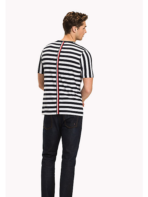 Stripe Regular Fit T-Shirt - BRIGHT WHITE - TOMMY HILFIGER Clothing - detail image 1
