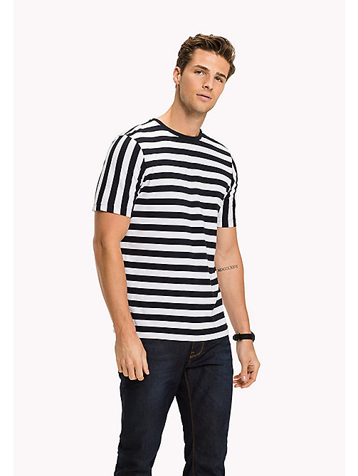 Stripe Regular Fit T-Shirt - BRIGHT WHITE - TOMMY HILFIGER Clothing - main image