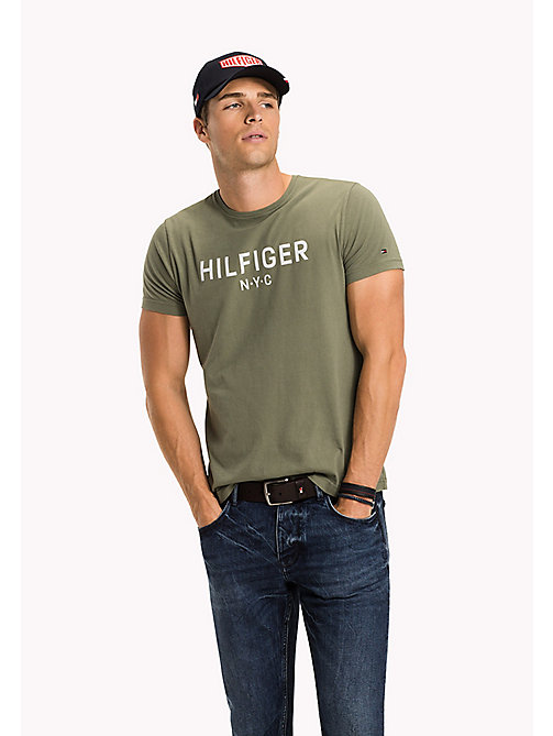 TOMMY HILFIGER Logo Print T-Shirt - FOUR LEAF CLOVER - TOMMY HILFIGER Sustainable Evolution - main image