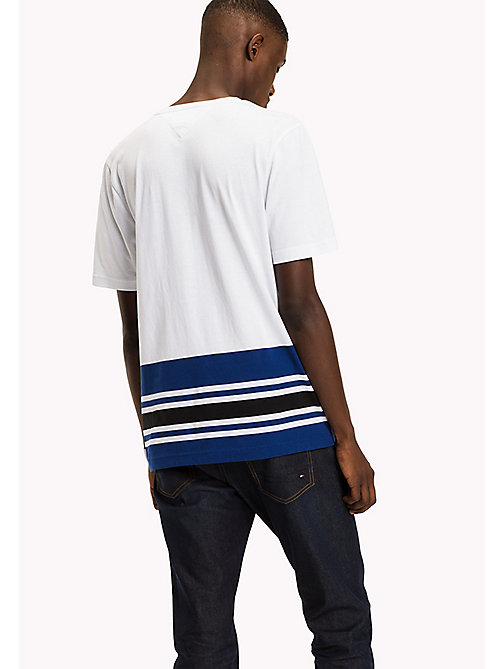 TOMMY HILFIGER Signature Stripe T-shirt - BRIGHT WHITE - TOMMY HILFIGER TOMMY'S PADDOCK - detail image 1