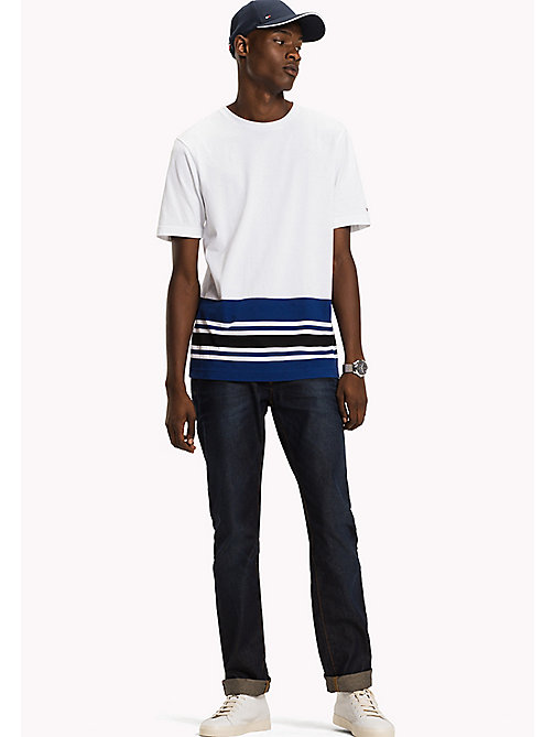 TOMMY HILFIGER Signature Stripe T-shirt - BRIGHT WHITE - TOMMY HILFIGER TOMMY'S PADDOCK - main image