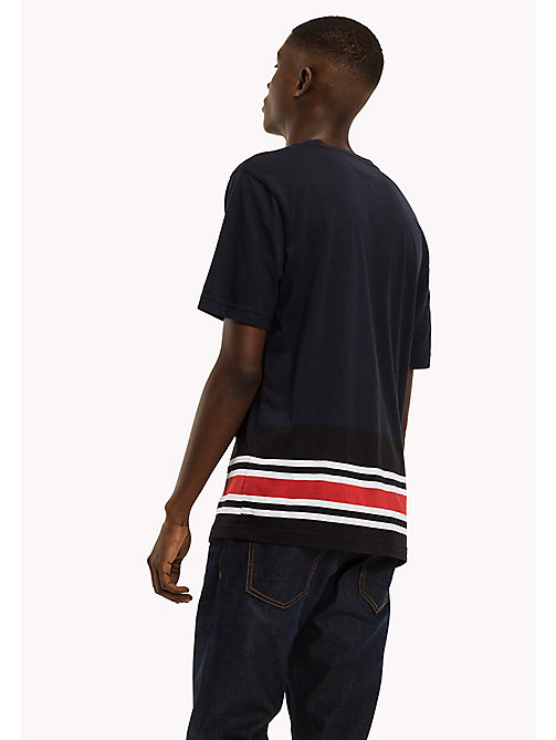 TOMMY HILFIGER Signature Stripe T-shirt - NAVY BLAZER - TOMMY HILFIGER NEW IN - detail image 1