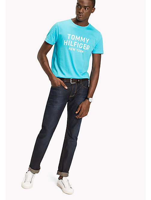 TOMMY HILFIGER Logo Print T-Shirt - BLUE ATOLL - TOMMY HILFIGER Sustainable Evolution - main image