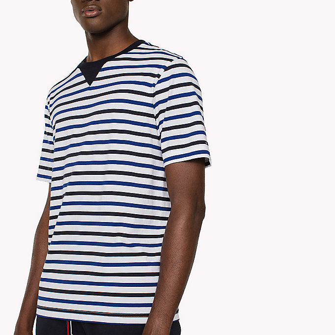 TOMMY HILFIGER Horizontal Stripe T-Shirt - HAUTE RED - TOMMY HILFIGER Clothing - detail image 2