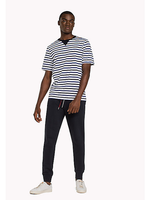 TOMMY HILFIGER Horizontal Stripe T-Shirt - NAVY BLAZER - TOMMY HILFIGER Clothing - main image