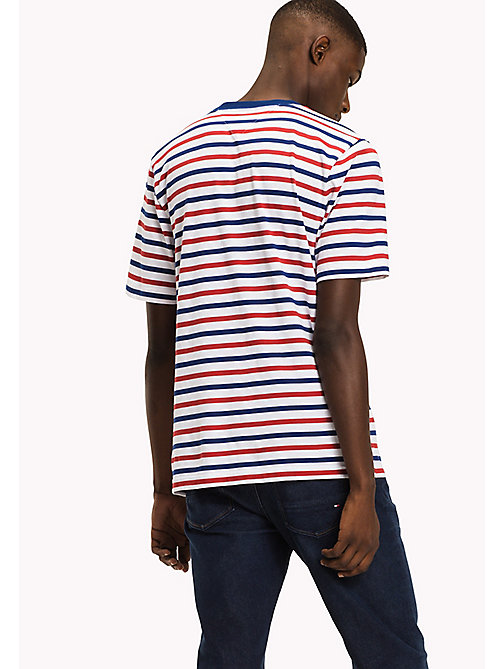 TOMMY HILFIGER Horizontal Stripe T-Shirt - HAUTE RED - TOMMY HILFIGER Men - detail image 1