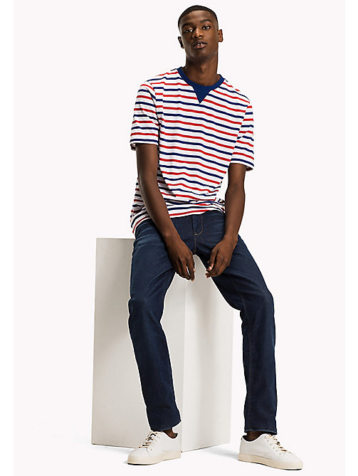 TOMMY HILFIGER Horizontal Stripe T-Shirt - HAUTE RED - TOMMY HILFIGER Men - main image