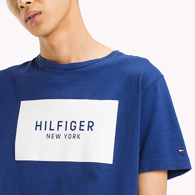TOMMY HILFIGER Regular Fit Logo T-Shirt - CLOUD HTR - TOMMY HILFIGER Men - detail image 2