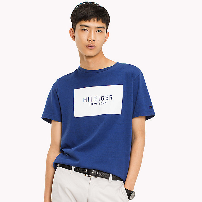 TOMMY HILFIGER Regular Fit Logo T-Shirt - CLOUD HTR - TOMMY HILFIGER Men - main image