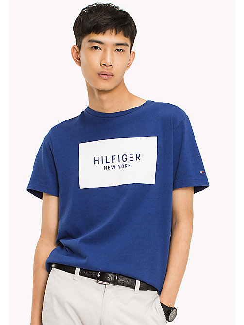 TOMMY HILFIGER Regular Fit Logo T-Shirt - SODALITE BLUE HTR - TOMMY HILFIGER Clothing - main image