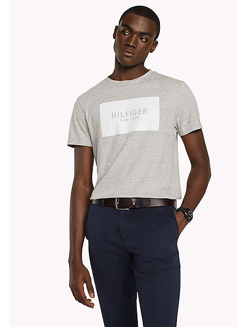 TOMMY HILFIGER Regular Fit Logo T-Shirt - CLOUD HTR - TOMMY HILFIGER T-Shirts & Polos - main image