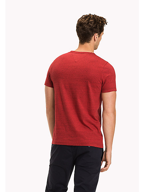 TOMMY HILFIGER Regular Fit Logo-T-Shirt - HAUTE RED HTR - TOMMY HILFIGER Kleidung - main image 1