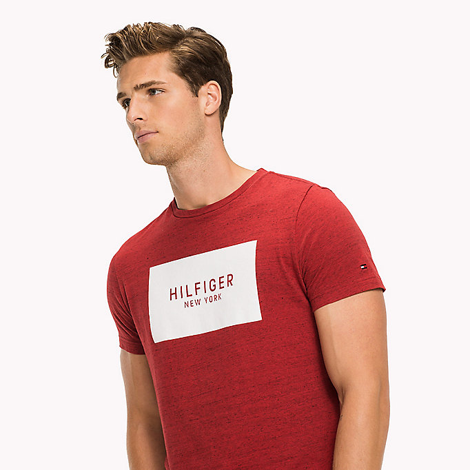 TOMMY HILFIGER Regular Fit Logo T-Shirt - MAGNET HTR - TOMMY HILFIGER Men - detail image 2