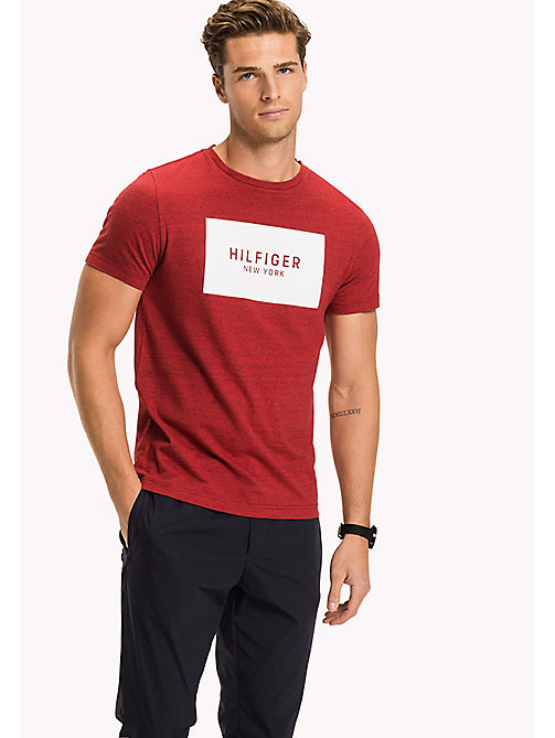 TOMMY HILFIGER Regular Fit Logo-T-Shirt - HAUTE RED HTR - TOMMY HILFIGER Kleidung - main image