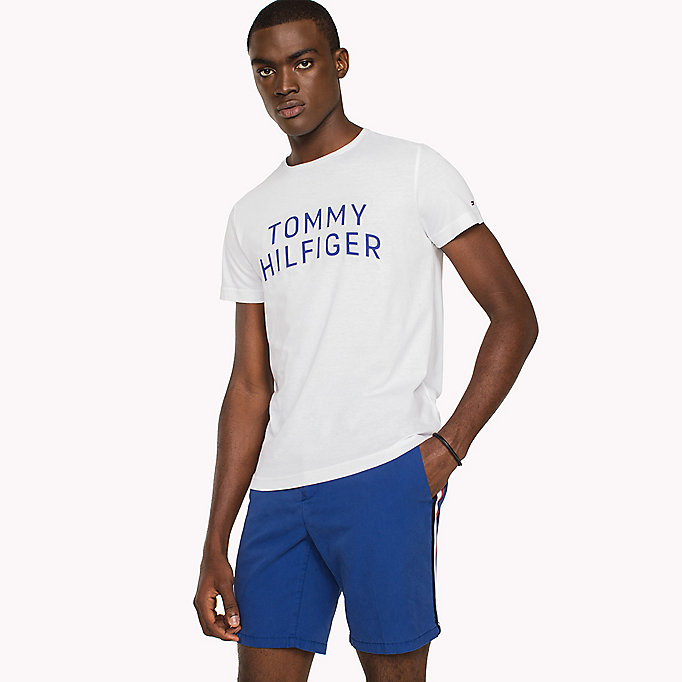 TOMMY HILFIGER Logo Initials Regular Fit T-Shirt - SODALITE BLUE - TOMMY HILFIGER Clothing - main image