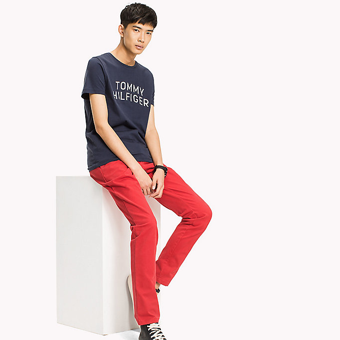 TOMMY HILFIGER Logo Initials Regular Fit T-Shirt - HAUTE RED - TOMMY HILFIGER Clothing - main image