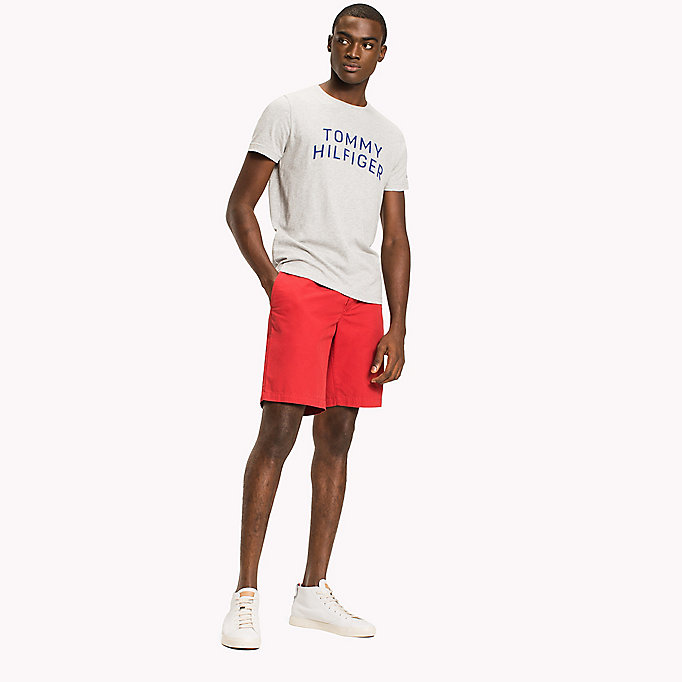 TOMMY HILFIGER Logo Initials Regular Fit T-Shirt - BRIGHT WHITE - TOMMY HILFIGER Clothing - main image