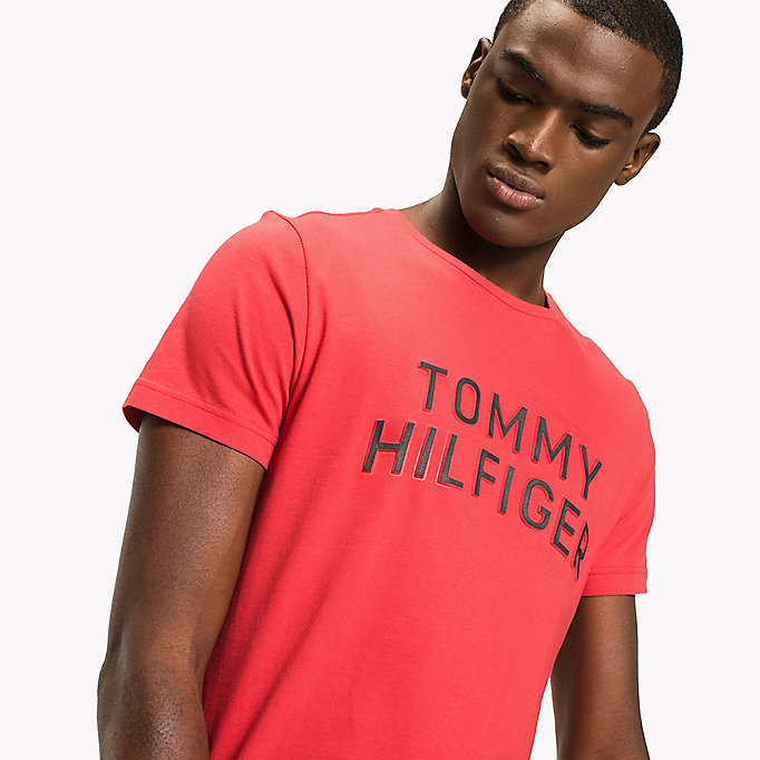 TOMMY HILFIGER Logo Initials Regular Fit T-Shirt - CLOUD HTR - TOMMY HILFIGER Clothing - detail image 2