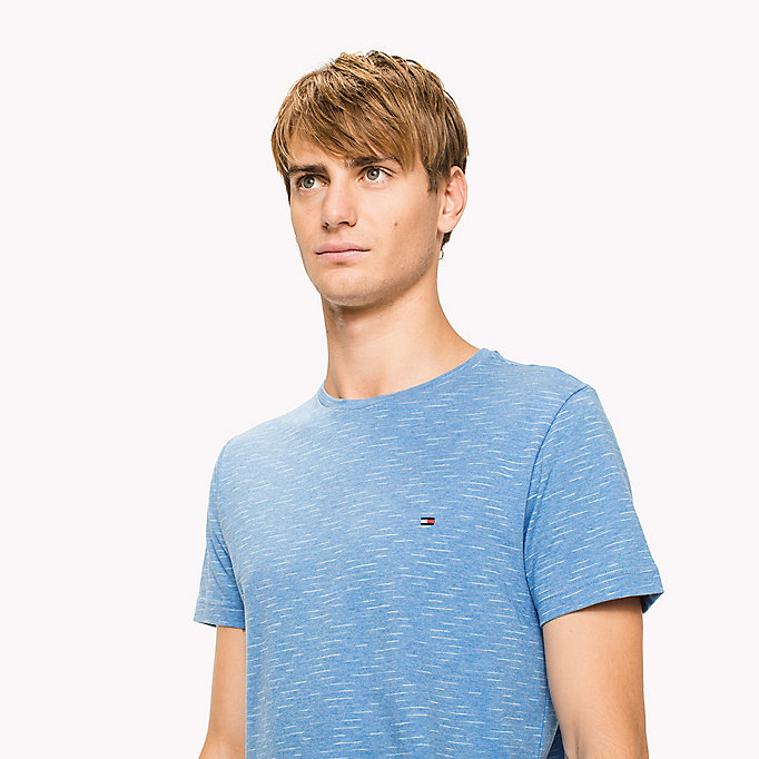 TOMMY HILFIGER Heathered Regular Fit T-Shirt - ANGEL BLUE HEATHER - TOMMY HILFIGER Clothing - detail image 2