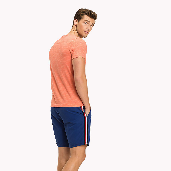 TOMMY HILFIGER Heathered Regular Fit T-Shirt - REGATTA HEATHER - TOMMY HILFIGER Clothing - detail image 1
