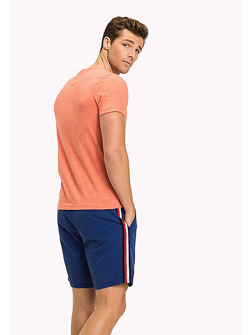 Heathered Regular Fit T-Shirt - HOT CORAL HEATHER - TOMMY HILFIGER Clothing - detail image 1