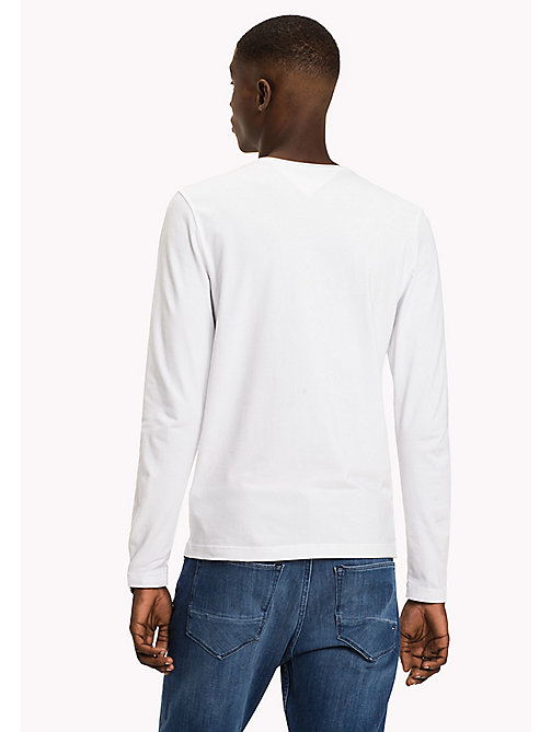 TOMMY HILFIGER Long Sleeve T-Shirt - BRIGHT WHITE - TOMMY HILFIGER TOMMY'S PADDOCK - detail image 1