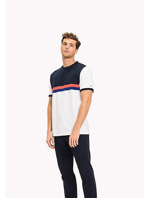 TOMMY HILFIGER Block Stripe Oversized Fit T-Shirt - BRIGHT WHITE - TOMMY HILFIGER T-Shirts - main image