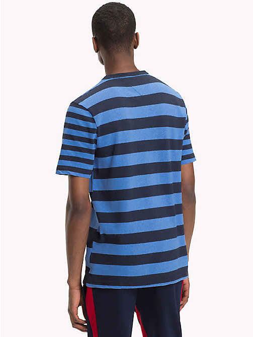 TOMMY HILFIGER Stripe Fashion Fit T-Shirt - NAVY BLAZER - TOMMY HILFIGER T-Shirts & Polos - detail image 1
