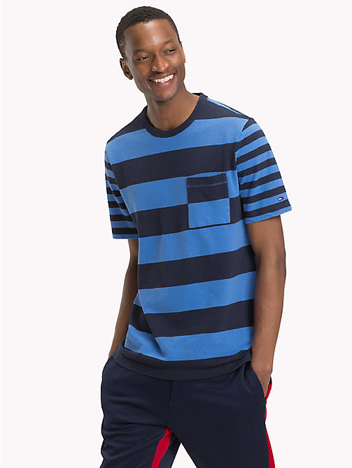 TOMMY HILFIGER Stripe Fashion Fit T-Shirt - NAVY BLAZER - TOMMY HILFIGER T-Shirts & Polos - main image