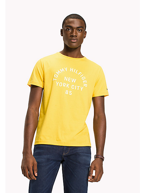 TOMMY HILFIGER Logo Print T-Shirt - LEMON - TOMMY HILFIGER Sustainable Evolution - main image