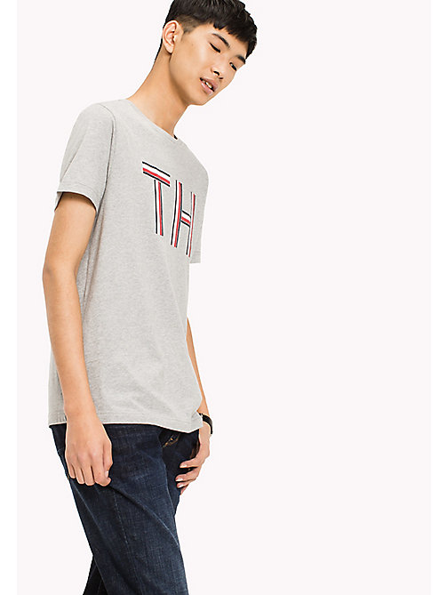 TOMMY HILFIGER Regular Fit Logo Initials T-Shirt - CLOUD HTR - TOMMY HILFIGER Sustainable Evolution - main image