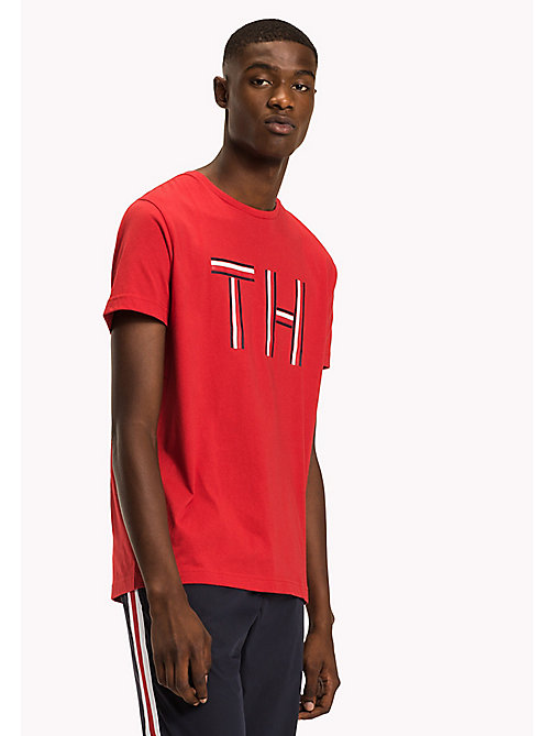 TOMMY HILFIGER Regular Fit Logo Initials T-Shirt - HAUTE RED - TOMMY HILFIGER Sustainable Evolution - main image